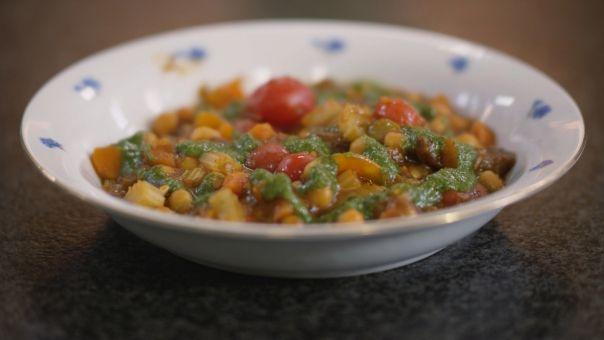 Eén - Dagelijkse kost - groentestoofpot met kikkererwten