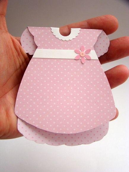 Convite chá de bebê - vestido   Ateliê Cor e Encanto   Elo7