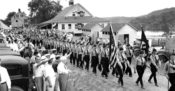 In the United States, the German American Bund, an American Nazi organization, was formed in 1936, and soon grew to have tens of thousands of members.