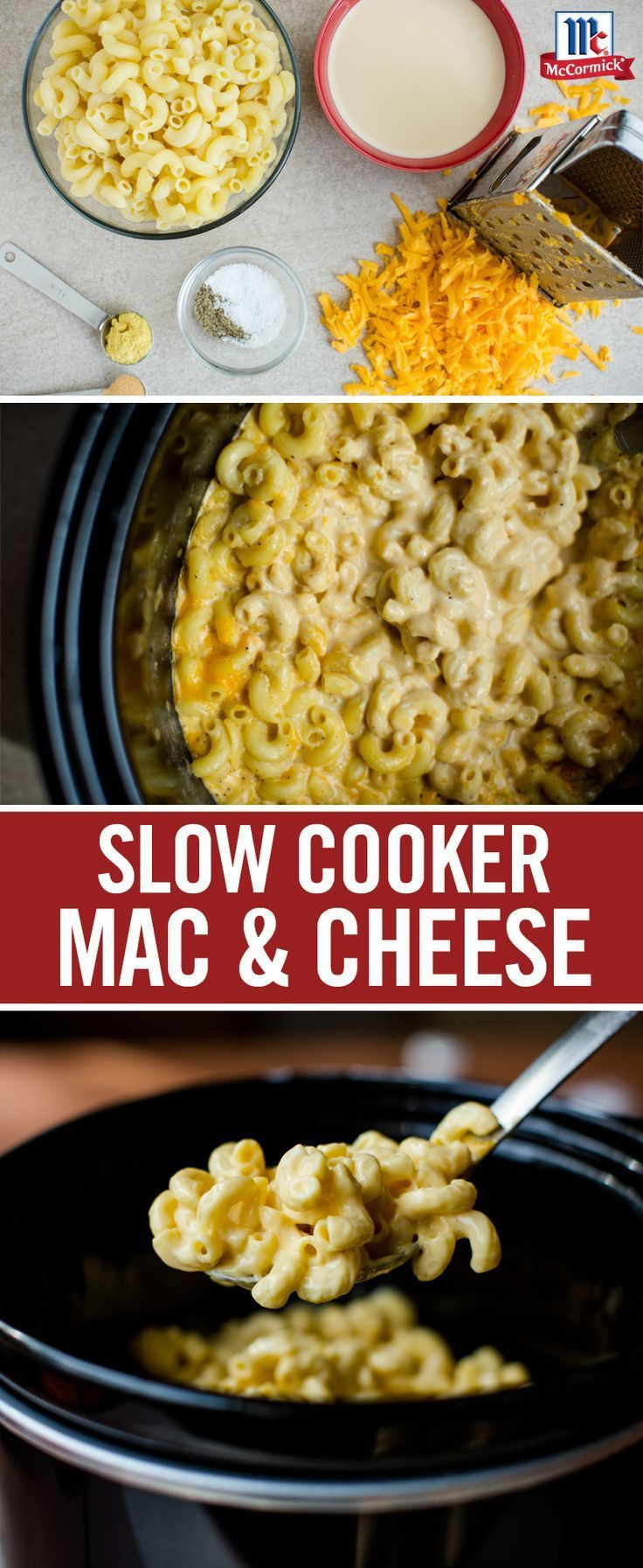 Looking for a new slow cooker recipe? This easy homemade slow cooker mac and cheese is perfect as a Thanksgiving side dish. Add cooked pasta to the slow cooker with Cheddar cheese and evaporated milk for an easy one pot dish that guests are sure to love.
