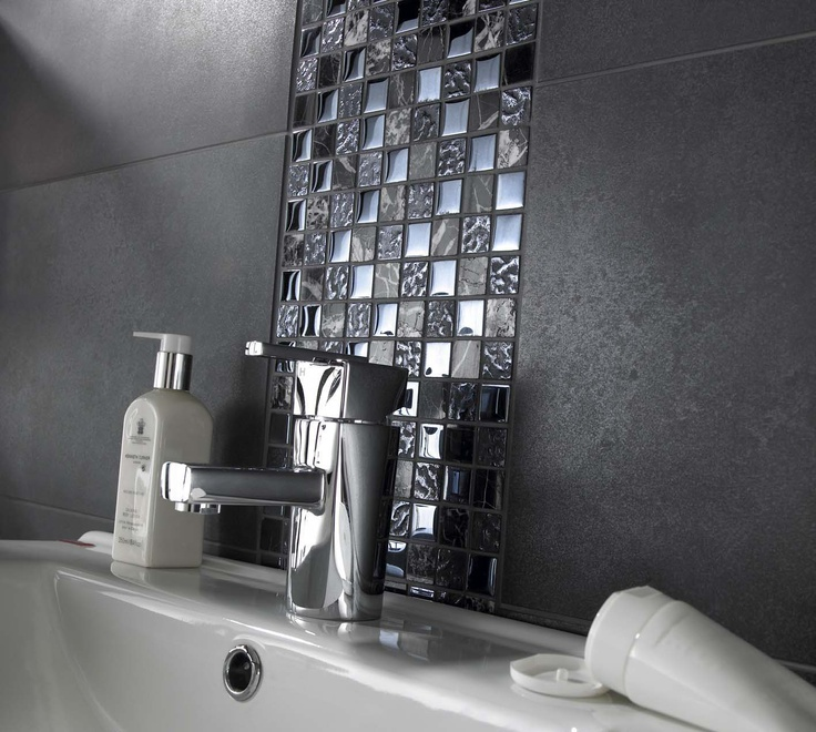 Black Tiles In Bathroom Ideas Part - 35: Natural Stone U0026 Glass Mosaics - Black Mix. Only £8.25! A Unique Increasingly