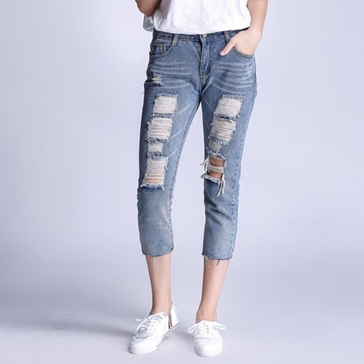 Best 25  Ripped jeans for women ideas on Pinterest   Women's ...