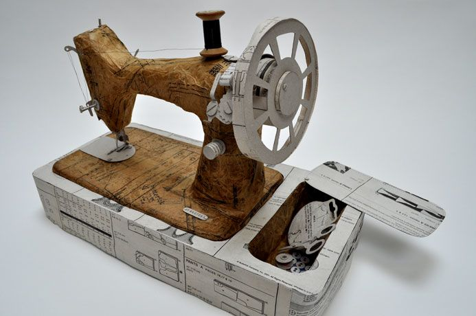 Singer Sewing Machine ( made from old paper ) | Jennifer Collier | http://www.jennifercollier.co.uk/