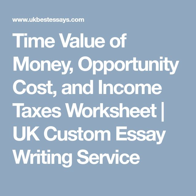 time value of money essay