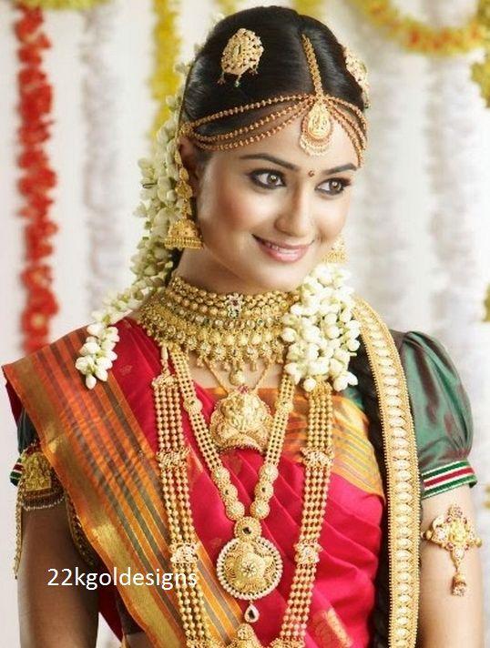 Indian Bridal Jewelry Jewellery Wedding Gold Jewelery Bride Portrait Beauty South Head Accessories
