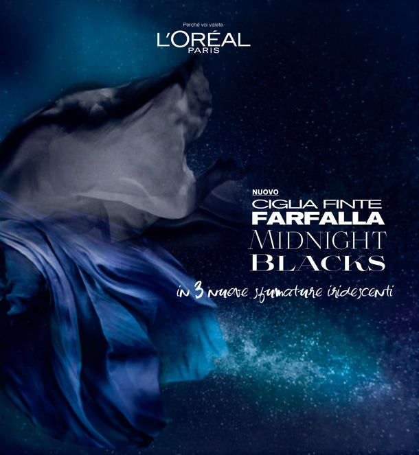 L'oreal presenta CIGLIA FINTE FARFALLA MIDNIGHT BLACKS #loreal #mascara #beauty #makeup - http://www.tentazionemakeup.it/2013/10/loreal-presenta-ciglia-finte-farfalla-midnight-blacks/