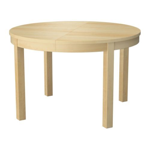 BJURSTA Dining table IKEA   This is the COOLEST table ever!  The leaf stays in the center and extends out to expand!