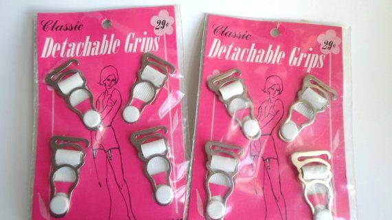 vintage garter belt clips