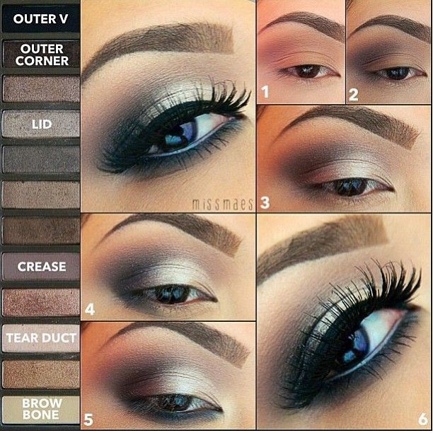 Urban Decay Naked 2 palette look