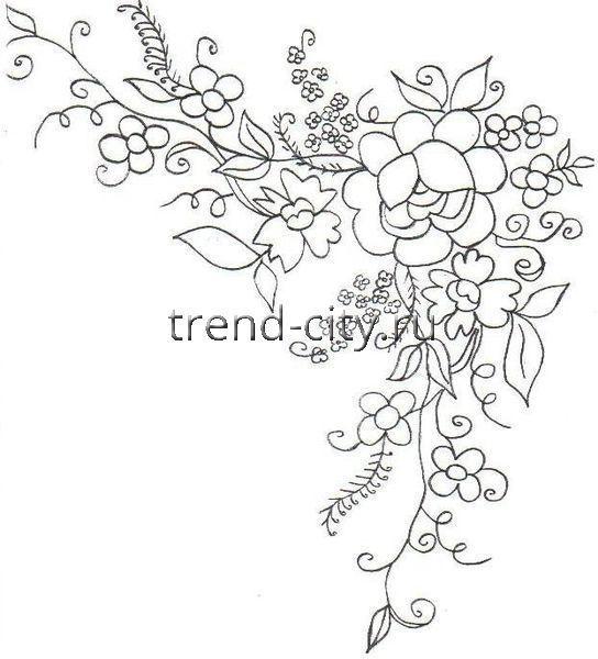 Букет цветов - уголок