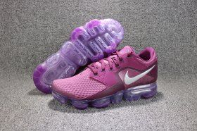 ba980ea0d65 Nike Air VaporMax Flyknit Purple Dark Purple Silver Viovif Somber 917962  600 Womens Running Shoes Girls Summer Trainers