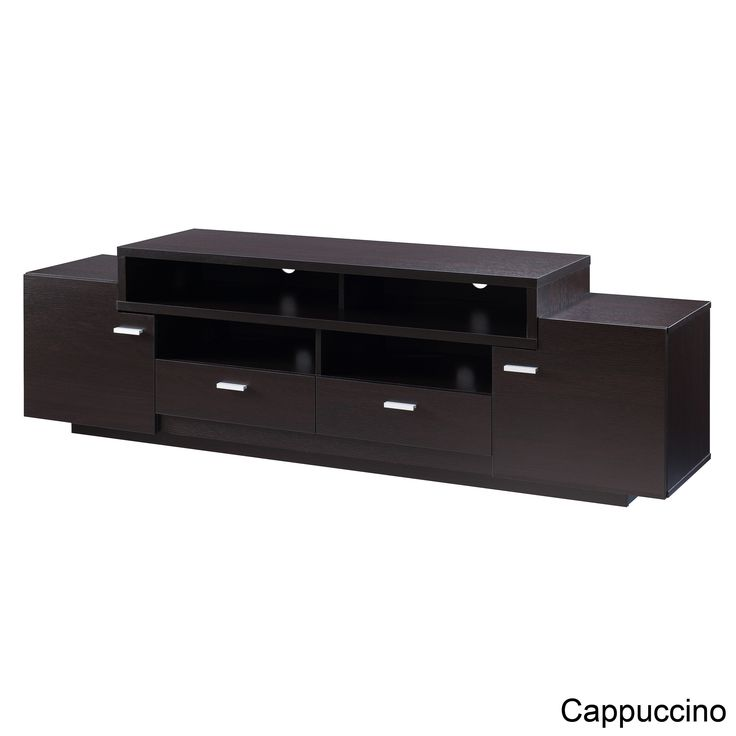 Furniture of America 72-inch Peyson Modern Tiered TV Stand (Cappuccino), Brown