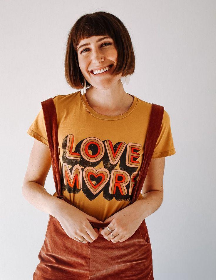 Love More Tee – Mustard