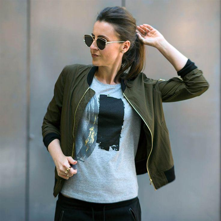 Urban Gilt - Maltby Grey Paint Stroke T-shirt| Women's Graphic Tees For Life's Adventurers | urbangilt.com | @urbangilt