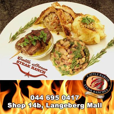 "Time to get ready for the ""Mosselbaai Proe Fees"" taking place on the 1st of March 2014. There will be a special Long table situated in the banking hall of the Langeberg mall and a 5 course meal served. The theme is Portugese. Cattle Baron Mossel Bay is proud to be a part of the festival with this meal. Cost of R200.00 p/p and booking is essential. #mosselbaaiproevees #festivals #cuisine"