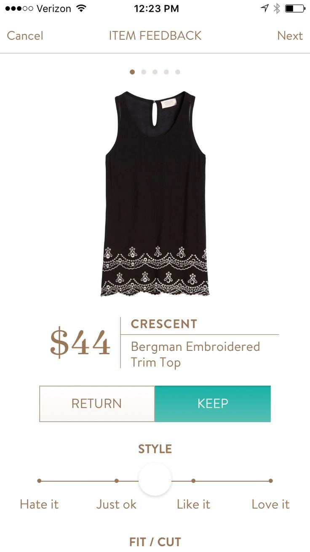 Love the crochet bottom! -- Crescent Bergman embroidered top (https://www.stitchfix.com/referral/3730967)