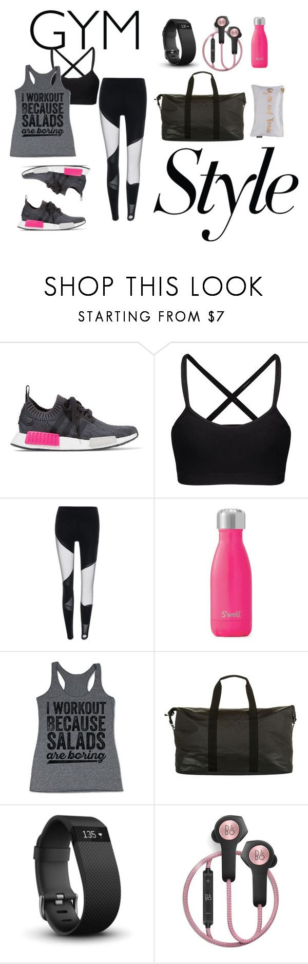 """Bez naslova #114"" by avipavi ❤ liked on Polyvore featuring adidas Originals, Swell, adidas, Fitbit, B&O Play, Nails Inc., workout, Runner, gymstyle and gymessentials"