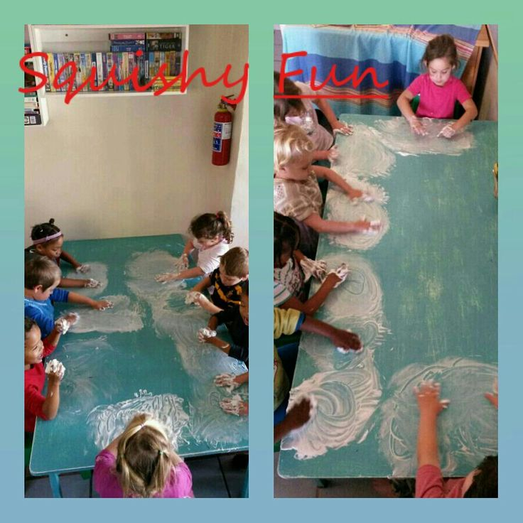 Learning to write in shaving cream
