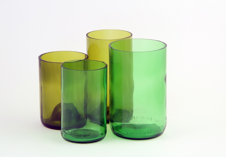 "drink responsibly Self-titled ""renegade craftsman"" Peter Dobson has an unusual line of work. Using recycled bottles from Sydney restaurants and bars, he then hand-cuts and polishes these to upcycle them as glasses, tumblers, carafes and vases."