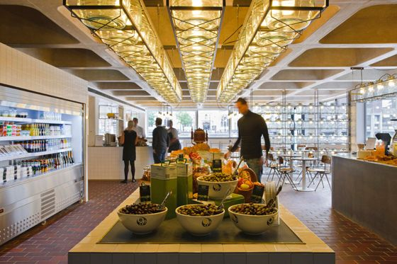 Go for coffee or lunch to the Barbican Foodhall   #London