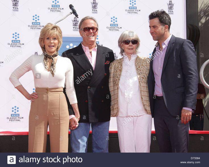 April 27, 2013 - Hollywood, California, U.S. - Jane Fonda, Peter Fonda, Shirley Fonda and Troy Garity arrives for the pJane Fonda Hand and Foot print Ceremony at the Chinese Theatre. (Credit Image: © Lisa O'Connor/ZUMAPRESS.com) Stock Photo