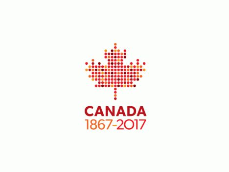 Canada's designers rebel against government-developed national logos. Henry Tyminski Designer, Partner, Sali Tabacchi Inc.: 150 dots arranged in a maple leaf representing 150 years. The dots can also symbolize the many different cultures that can be found within Canada – to express Canada's multiculturalism. Font used: Gibson, designed by Canadian type designer Rod McDonald.