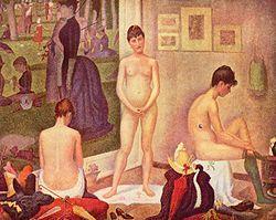 Le modelle-Georges Seurat-1888-olio su tela-200×250 cm-Barnes Foundation, Filadelfia