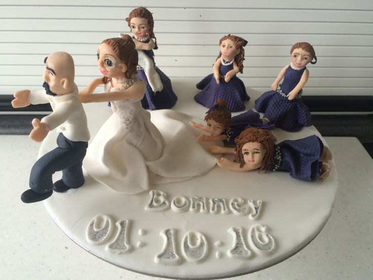 Bridal party wedding topper