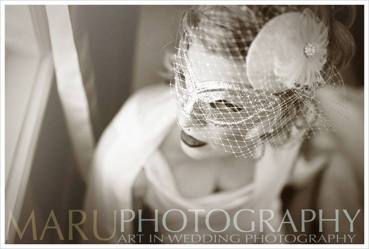 Custom Shiverz Daizy Blusher  Birdcage netting, satin, lace, nagorie feathers with a diamond dome center.