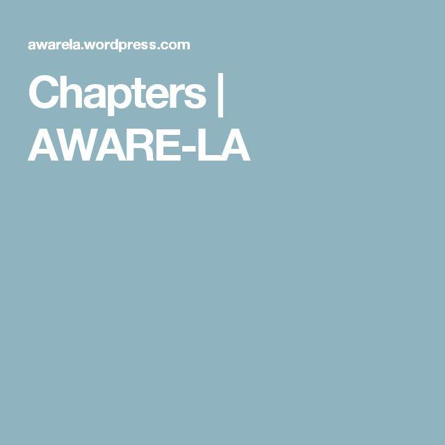 Chapters   AWARE-LA