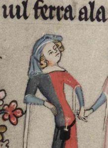 Romance of Alexander. Bodl. 264, fol. 106r, c. 1340.
