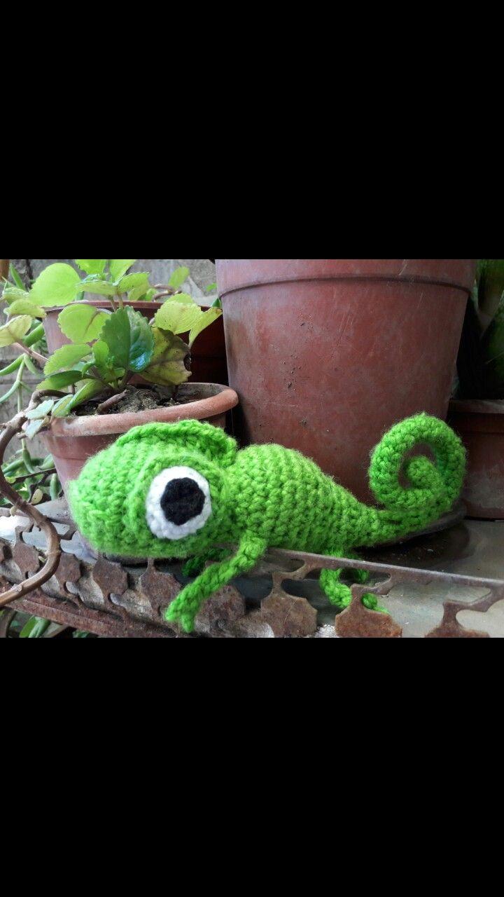 #pascal #iguana #rapunzel #enredados #amirugumi #crochet #chile #tejer #personajes #santiagodechile #ayunduwen