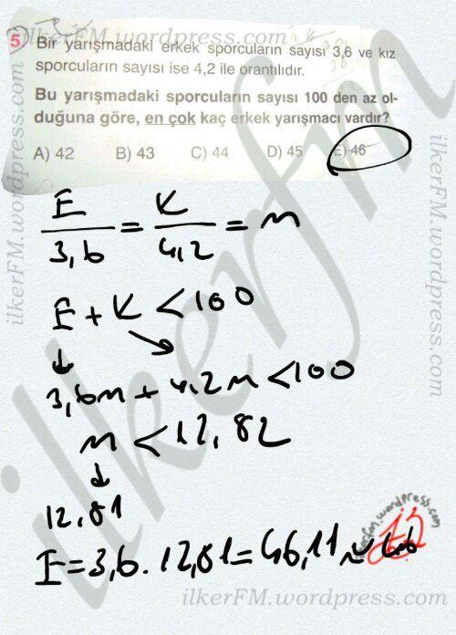 Oran orantı soru çözüm denklem Sistemleri #ygs #lys matematik