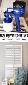 Do you dread the thought of painting shutters? Learn how to paint shutters without any drips!