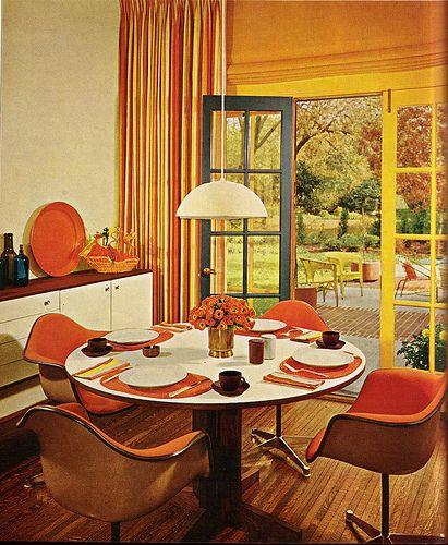 Oh, orange kitchen. I have always dreamed of you.