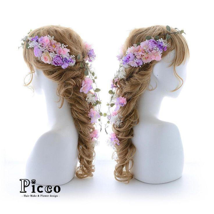 Gallery 378 . Order Made Works Original Hair Accessory for WEDDING . ⭐️結婚式髪飾り⭐️ . ミルキートーンの素敵なパープルカラーのドレスに合わせて、ナチュラル&アンティークな雰囲気に仕上げた花冠スタイル ピンク&パープルの好相性なカラーコンビのローズに、ふんわり効果のかすみ草で、可愛さをさらにプラスしました✨ . #Picco #オーダーメイド #髪飾り . . #ナチュラル #アンティーク #ローズ #花冠 #ウェディングヘア . デザイナー @mkmk1109 . . . . #ブライダル #ウェディングフォト #ウェディングドレス #カラードレス #ヘアアクセ #ヘッドアクセ #ヘッドドレス #花飾り #造花 #結婚式髪飾り #結婚式ヘア #前撮り #プレ花嫁 #花嫁 #二次会 #パーティー #お披露目 #