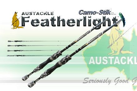 austackle camo-stick featherlight | fishing rods by austackle, Fishing Rod
