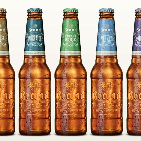 Muted, cool, colorful, and classic!  - Brand Bier Bottles