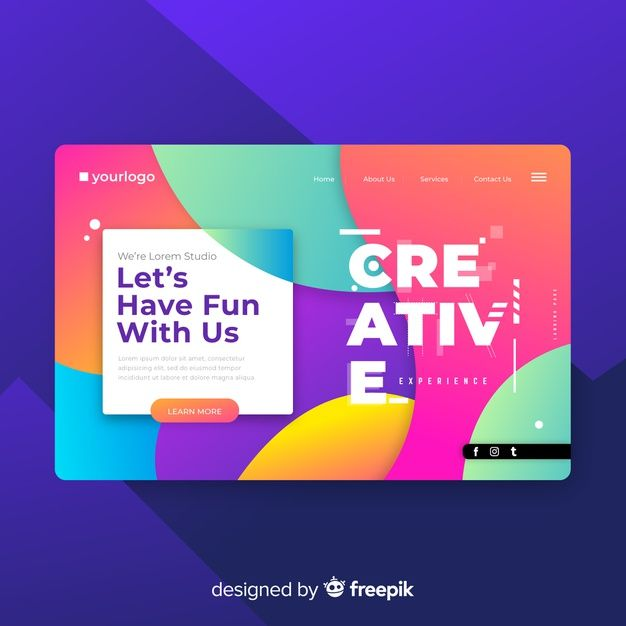 Download Creative Landing Page Template For Free Page Template Landing Page Templates
