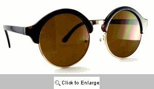 Club 54 Round Clubmasters Sunglasses - 563 Tortoise