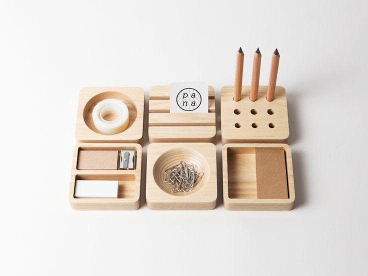 Tofu Stationery Set - modular desk organizers  |  http://www.houzz.com/photos/2379470/Tofu-Stationery-Set-modern-desk-accessories-other-metro  |  #stationery  #stationary
