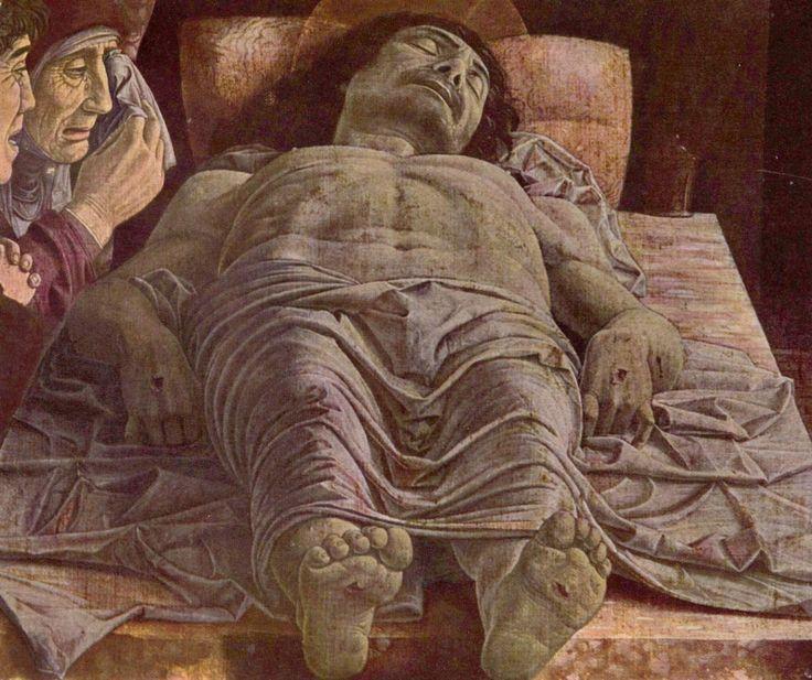 Andrea Mantegna.  Beweinung Christi. Um 1490-1500, Tempera auf Holz, 66 × 81 cm. Mailand, Pinacoteca di Brera. Italien. Renaissance.  KO 03216