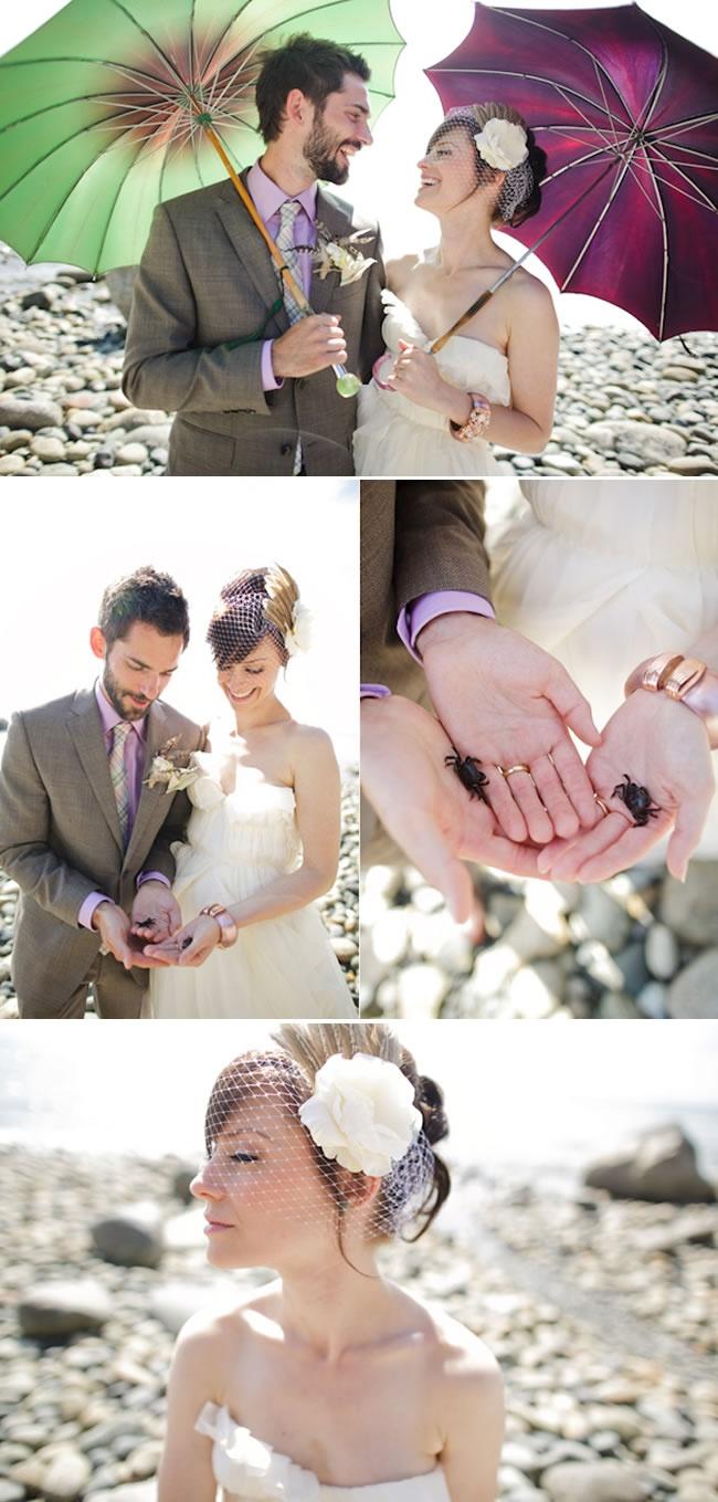 Love the veil!  british_columbia_vintage_wedding_9_2