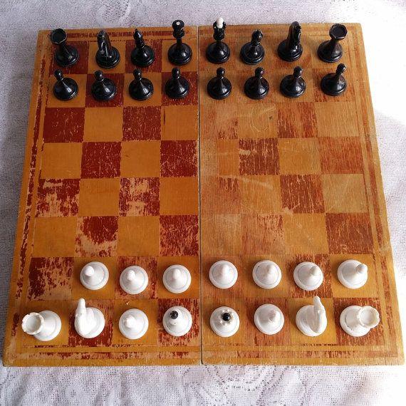 Vintage original chess set from Soviet от USSRVintageShopUSSR