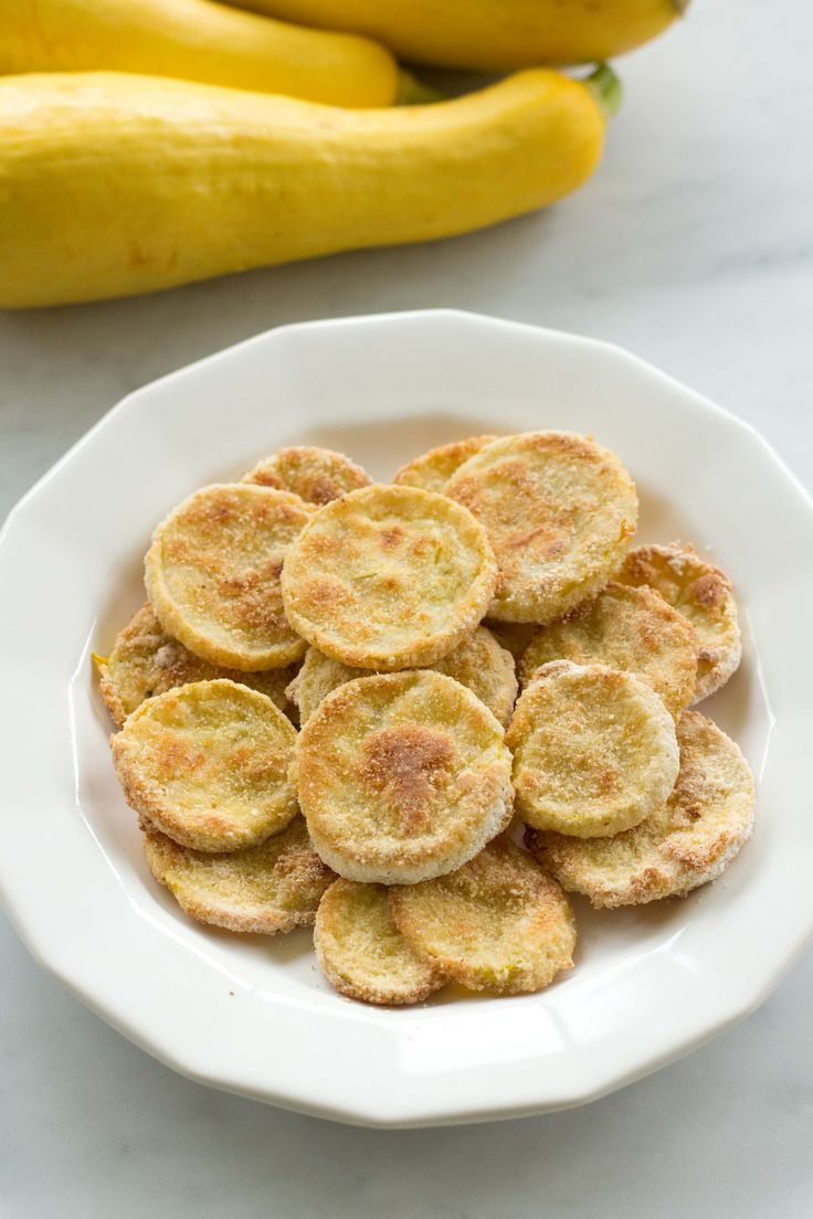 Zesty Oven Fried Squash is a tasty, healthier version of a Southern classic. By marinating your squash in Italian Dressing, you do not have to use eggs or butter.