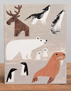 Winter Animals by Christian Robinson   Red Cap Cards