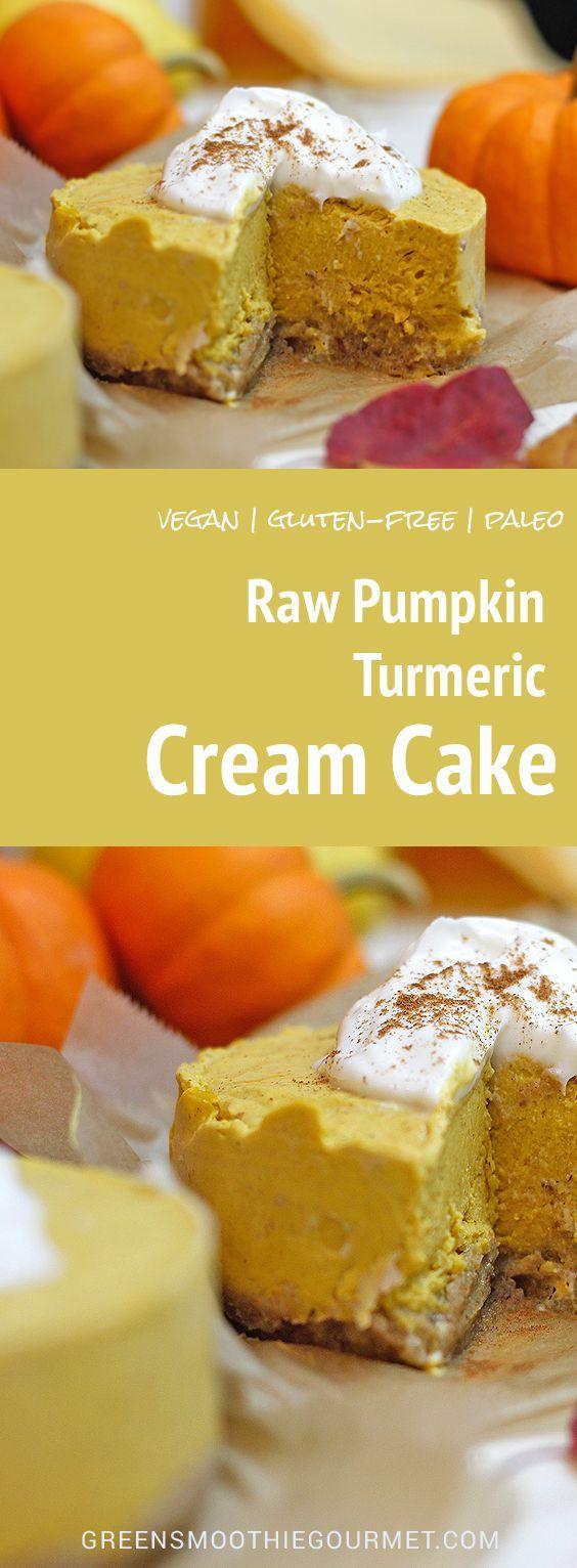 RAW PUMPKIN TURMERIC CREAM CAKE | Food And Cake Recipes