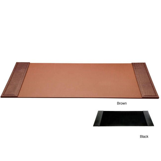 Dacasso Crocodile-Embossed Desk Pad with Side Rails