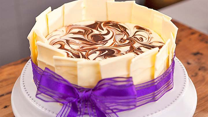 White Chocolate Marbled Cheese Cake