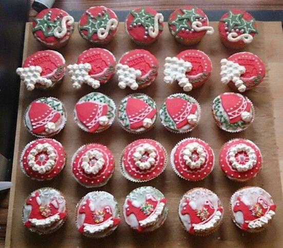 Cupcakes Weihnachten x-mas